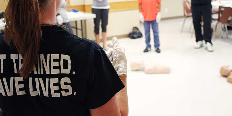 First Aid Instructor Teaching